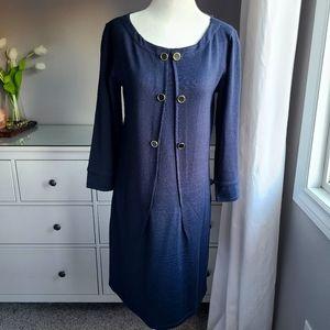 Tahari Navy Sweater Dress